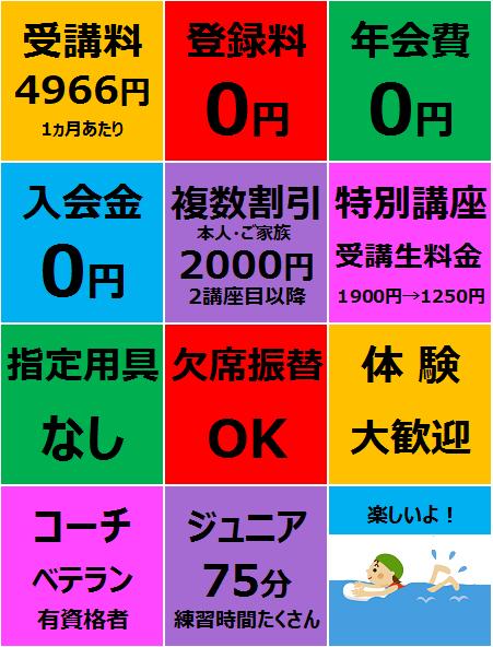 スイミング 名古屋 入会金無料 指定用具なし 体験できます 子供 幼児 小学生 中学生 キッズ ジュニア 欠席振替できます。 複数受講割引もあります。